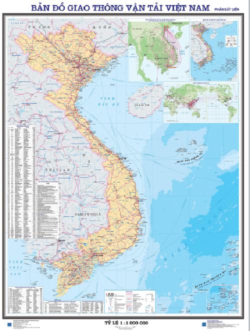 bản đồ giao thông đường bộ VN