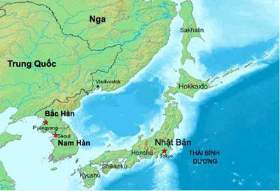 Bản đồ Hàn Quốc tiếng việt
