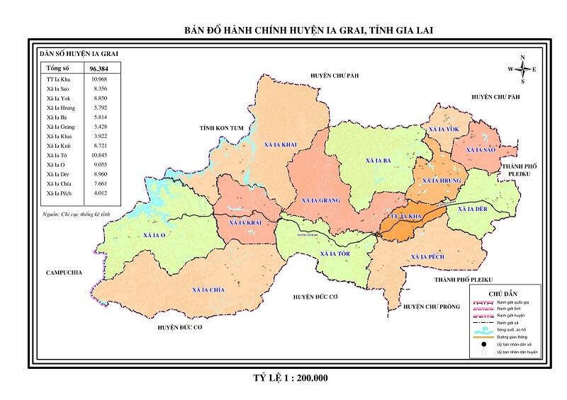 bản đồ hành chính gia lai