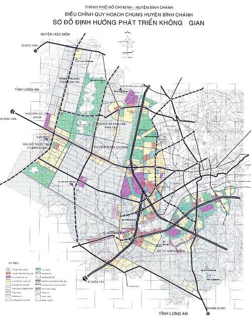bản đồ hành chính huyện bình chánh