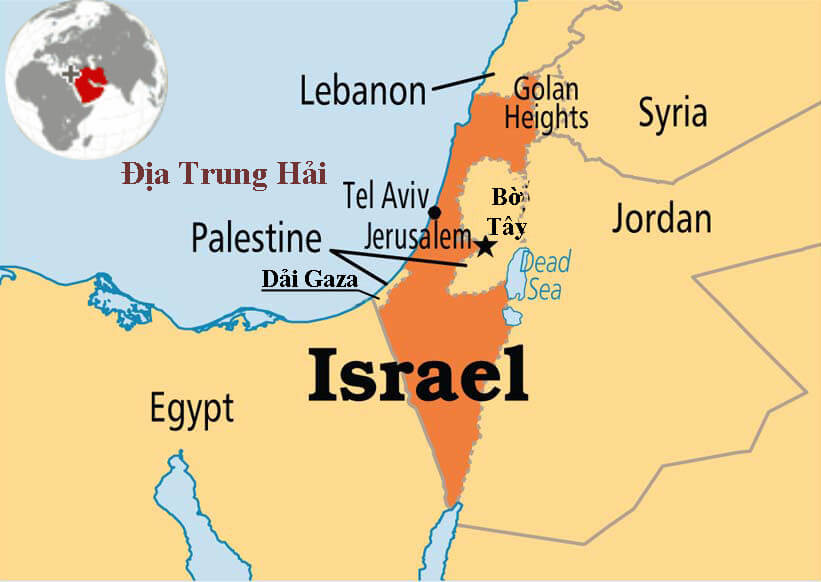bản đồ nước israel