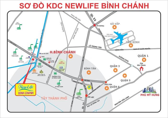 Bản đồ quy hoạch xã Bình Hưng huyện Bình Chánh