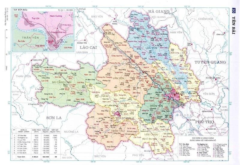 Bản đồ giao thông Yên Bái