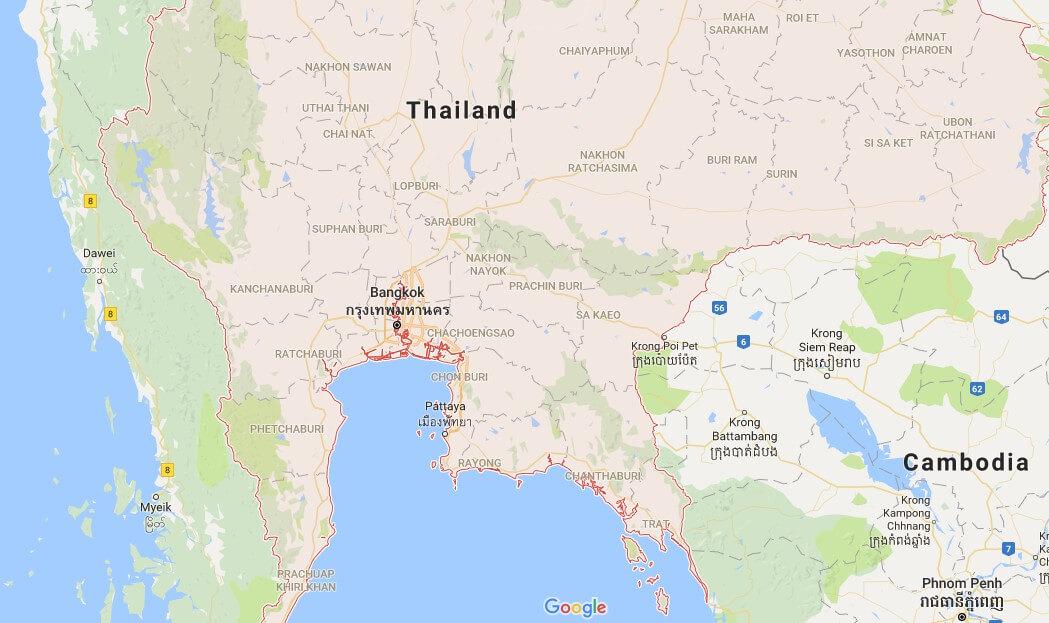 Bản đồ Thái Lan tiếng việt