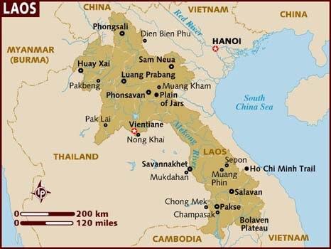 Mách bạn địa điểm mua bản đồ nước Lào ở đâu chính xác nhất