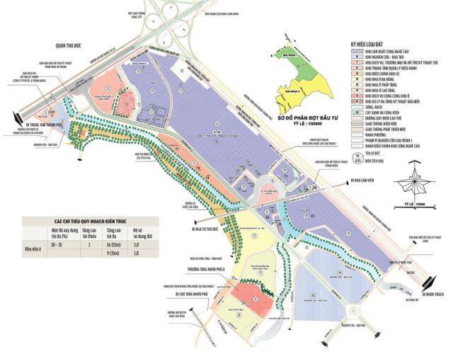Bản đồ quy hoạch khu công nghệ cao quận 9