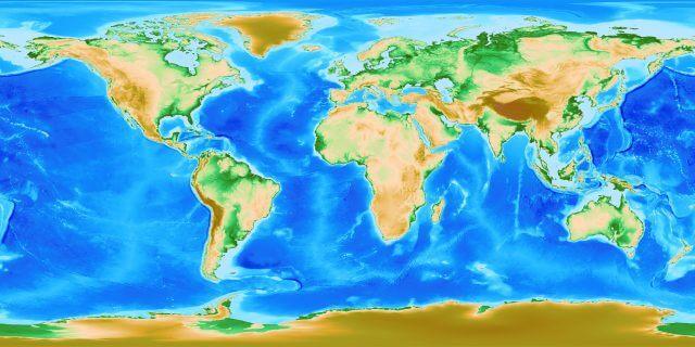 Bản đồ thế giới chụp từ vệ tinh