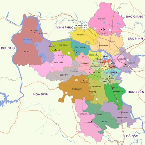 Bán bản đồ hành chính Hà Nội chất lượng