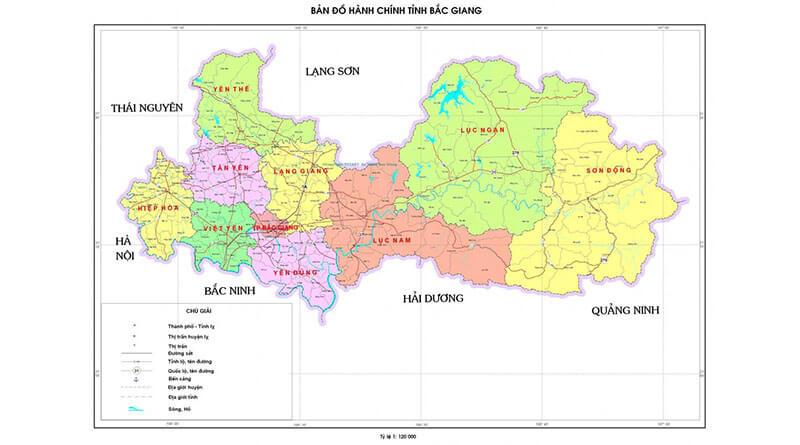 Bán bản đồ hành chính Bắc Giang uy tín