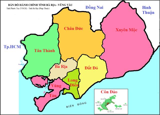 Bán bản đồ hành chính Bà Rịa Vũng Tàu rẻ