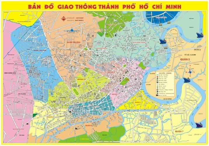 Bán bản đồ giao thông tphcm khổ lớn