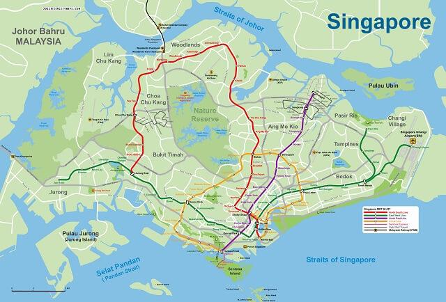 Bản đồ nước Singapore
