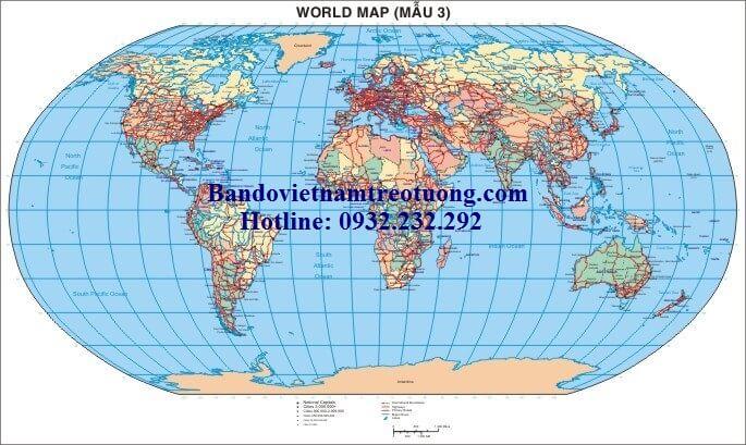 Bán bản đồ thế giới khổ lớn giá rẻ nhất