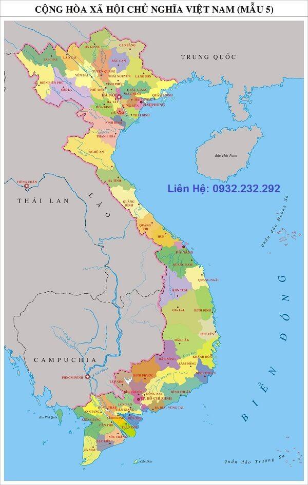 Cần mua bản đồ Việt Nam ghé Thiên Ân