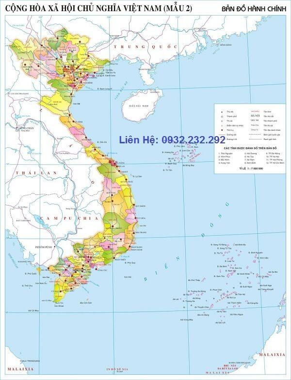 Mua bản đồ Việt Nam cỡ lớn ở đâu tại hà nội