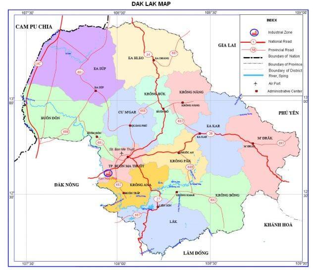Bản đồ hành chính cư mgar