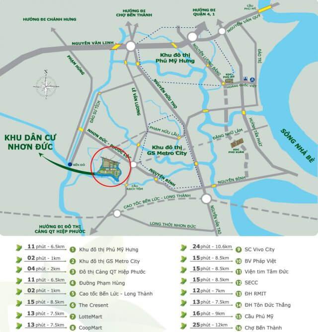 Bản đồ giao thông xã Nhơn Đức