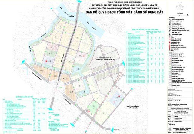 Bản đồ quy hoạch xã Nhơn Đức huyện Nhà Bè