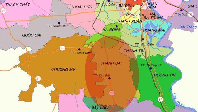 Bản đồ thanh oai Hà Nội