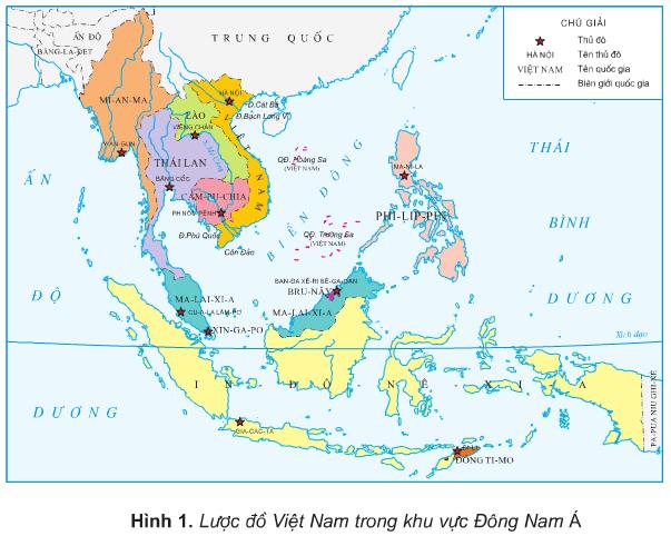 Bản đồ việt nam và các nước lân cận