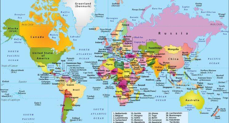 Bản đồ atlas thế giới có gì khác biệt