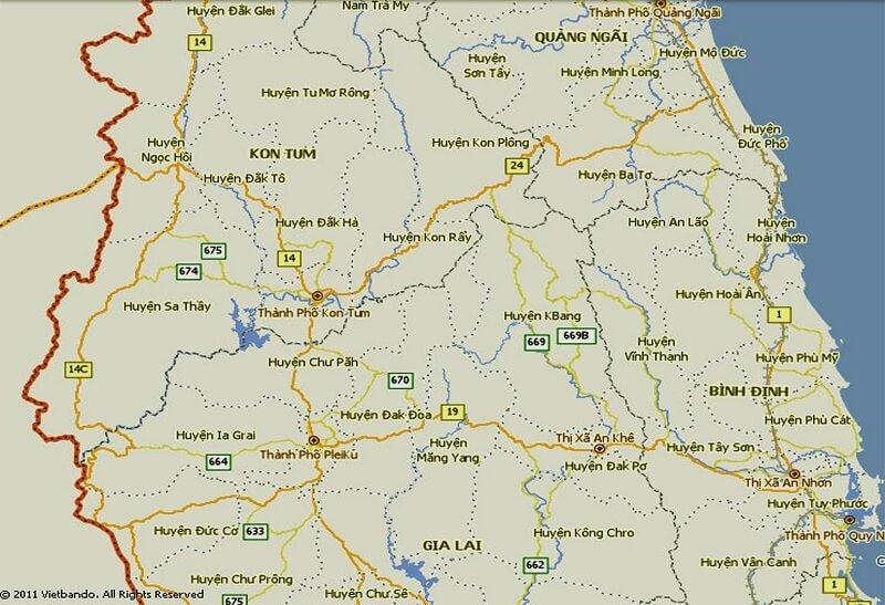 Bản đồ Gia Lai uy tín