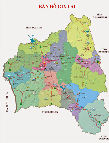 Bản đồ Gia Lai Việt Nam