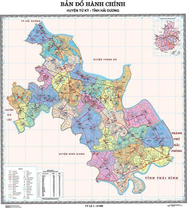 Bản đồ Từ Kỳ Hải Dương