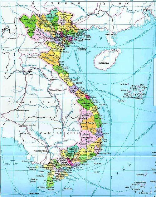 Bản đồ Việt Nam 2012 vector có gì đặc biệt