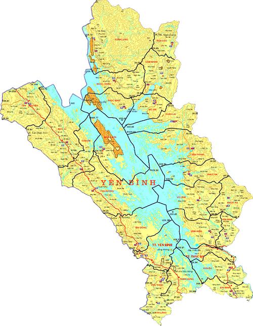 Bản đồ hành chính huyện Yên Bình tỉnh Yên Bái