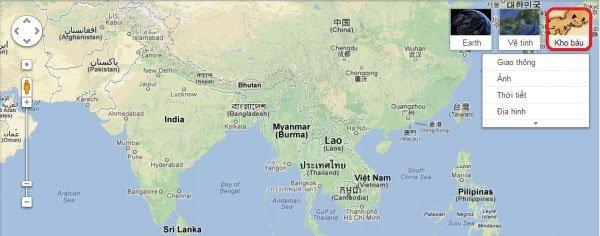 Bản đồ thế giới Google Map ở Thiên Ân Shop