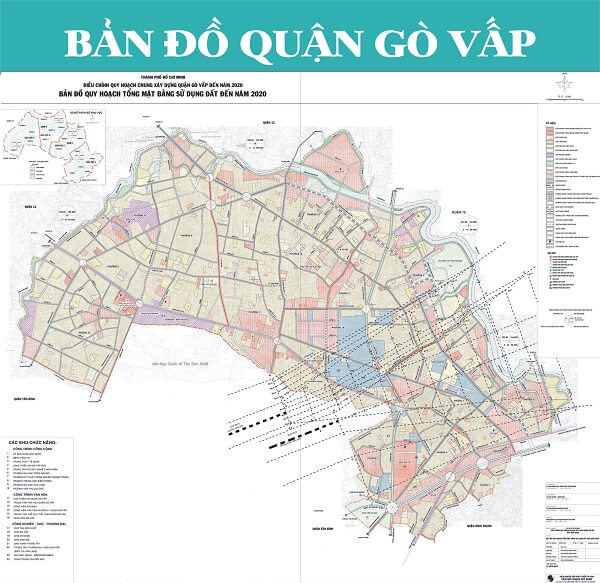 Bản đồ quy hoạch chung của quận Gò Vấp