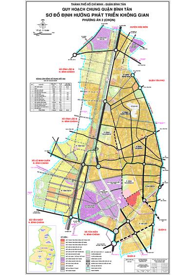 Bản đồ quy hoạch chung quận Bình Tân