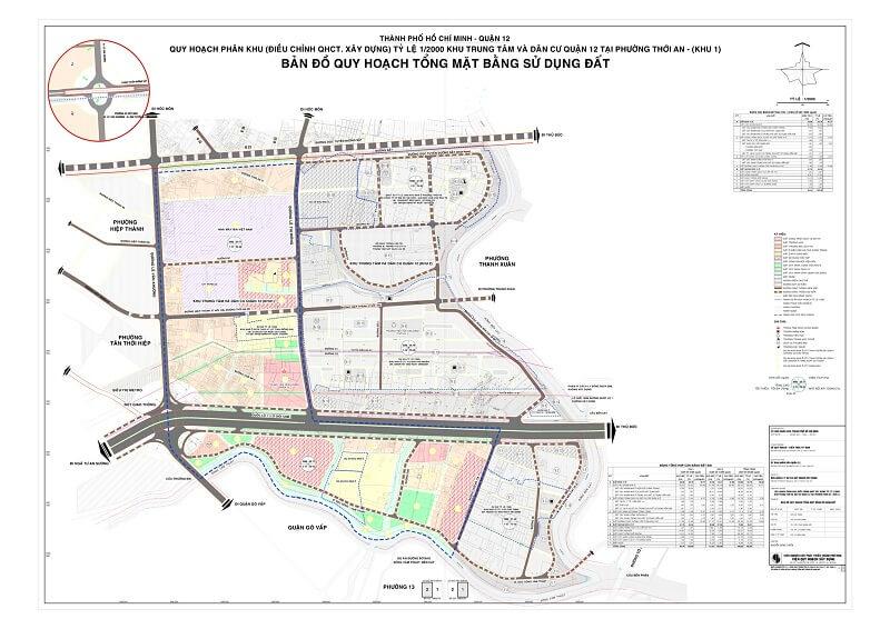 Bản đồ quy hoạch phường Thới An