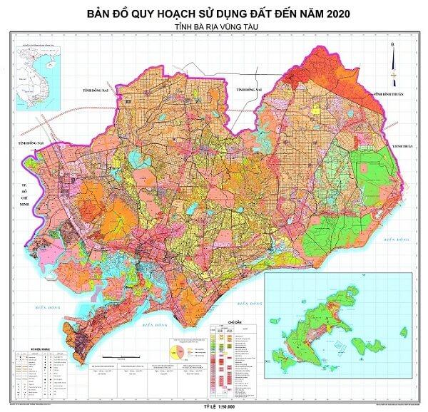 Bản đồ quy hoạch tổng thể mặt bằng thành phố Vũng Tàu.
