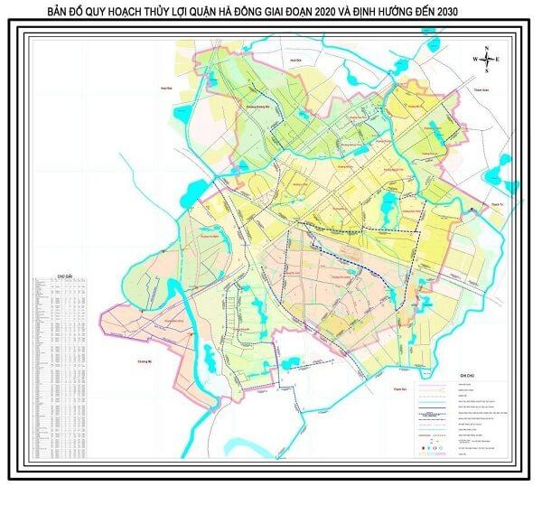 Bản đồ quy hoạch thủy lợi quận Hà Đông