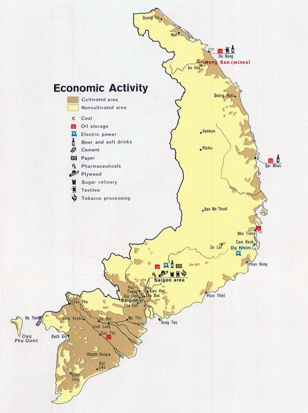 Bản đồ việt nam trước 1975