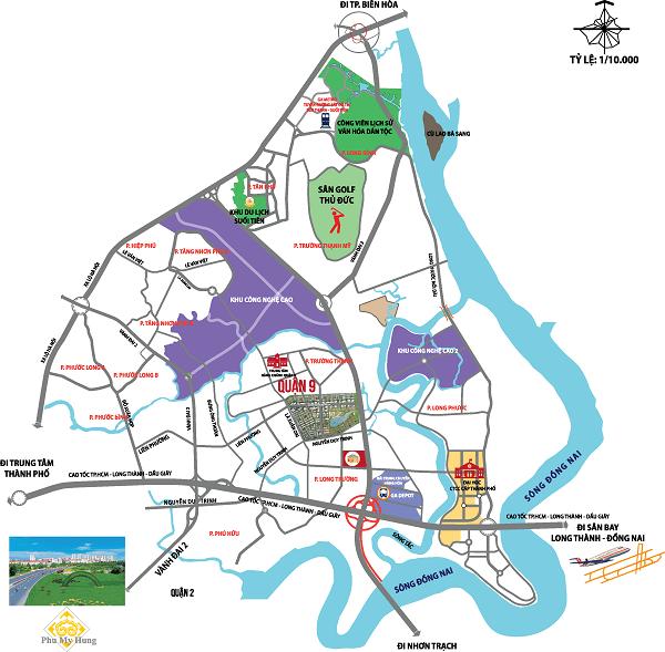 Bản đồ thửa đất quận 9