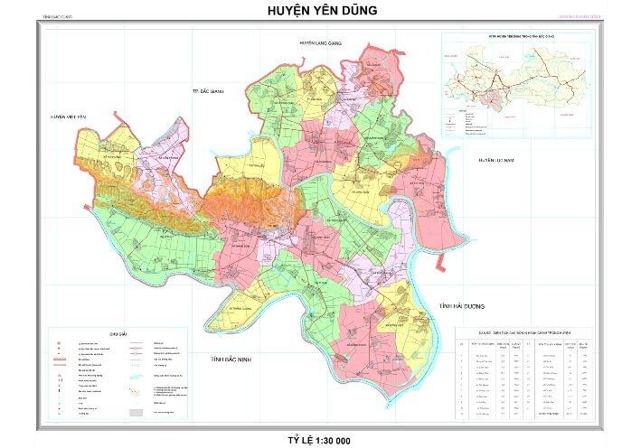 Thông minh khi chọn bản đồ hành chính huyện Yên Dũng tỉnh Bắc Giang