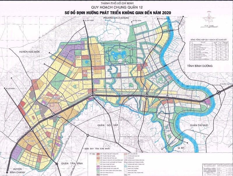Bản đồ quy hoạch phường Thới An quận 12 có điểm gì đặc biệt
