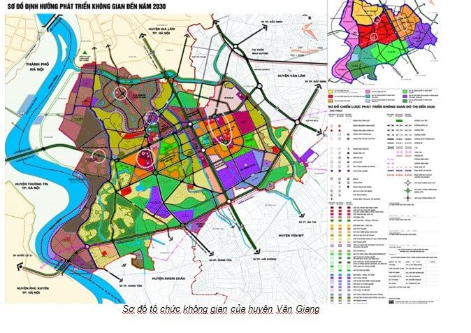 Chi tiết thông tin đầu tư nhờ bản đồ quy hoạch huyện Văn Giang Hưng Yên