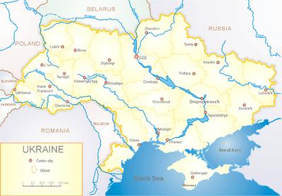 Bản đồ miền đông ukraine