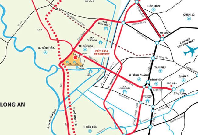 Bản đồ thị trấn đức hòa