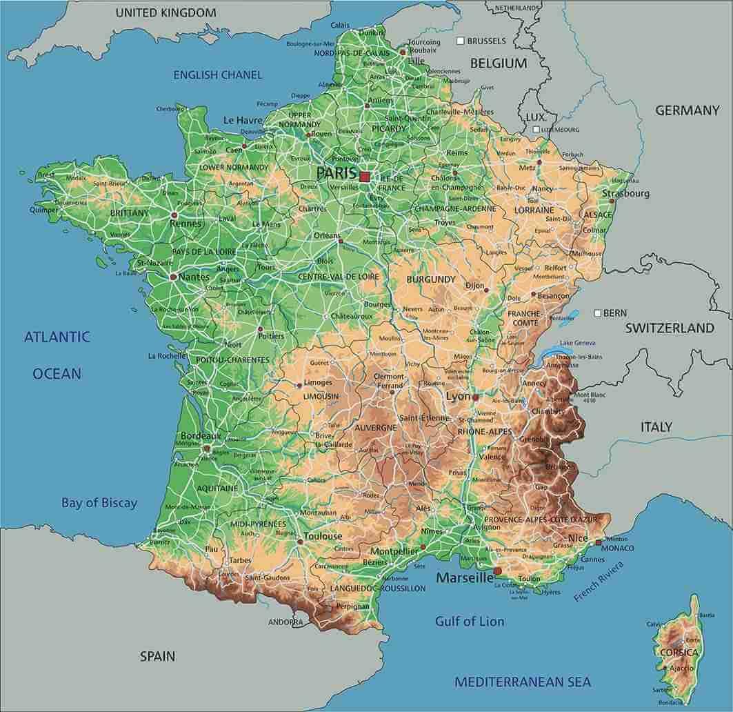 Bản đồ khổ lớn nước Pháp
