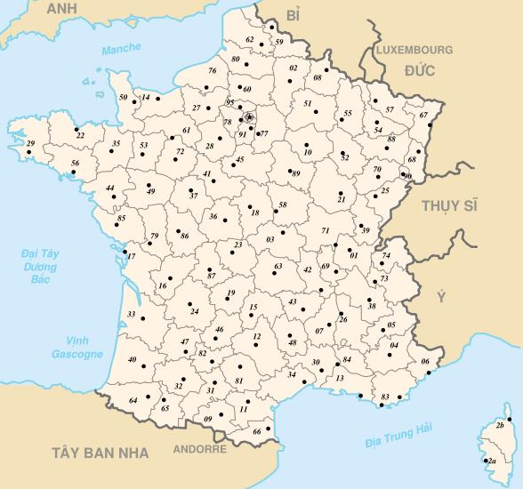 Bản đồ nước Pháp