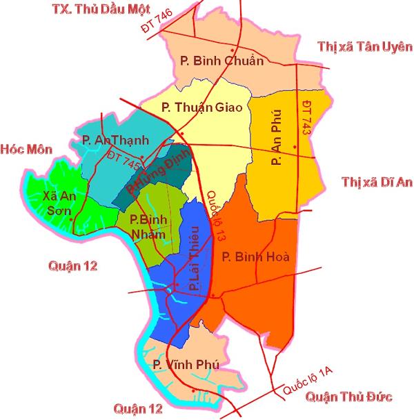 Thuận an bình dương google map