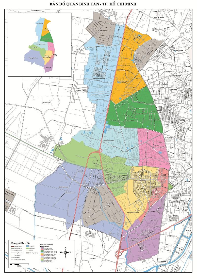 Bản Đồ Quận Bình Tân TP Hồ Chí Minh
