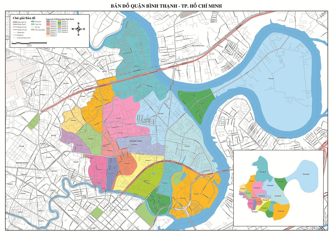 Bản Đồ Quận Bình Thạnh TP Hồ Chí Minh
