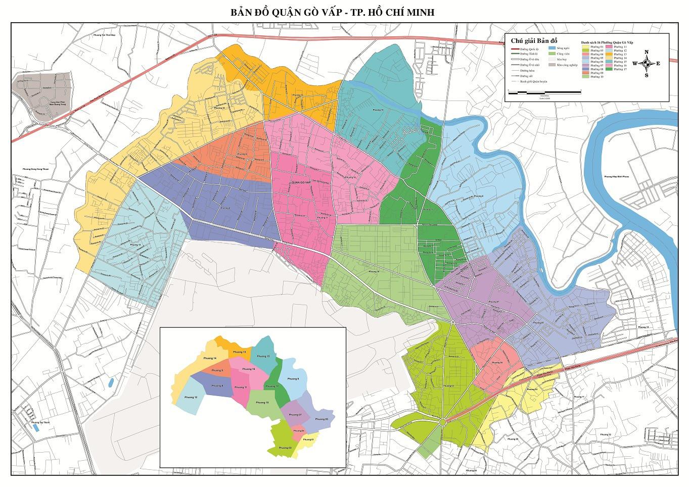Bản Đồ Quận Gò Vấp Thành Phố Hồ Chí Minh