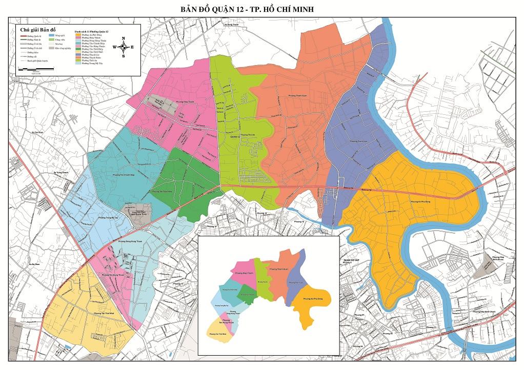 Bản Đồ Quận 12 Thành Phố Hồ Chí Minh